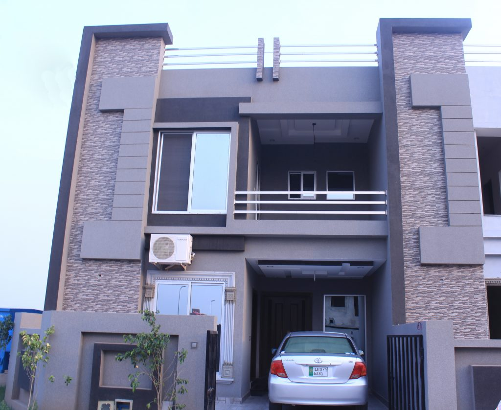 Front Elevation Lights : Marla ready house for sale in lahore on installments